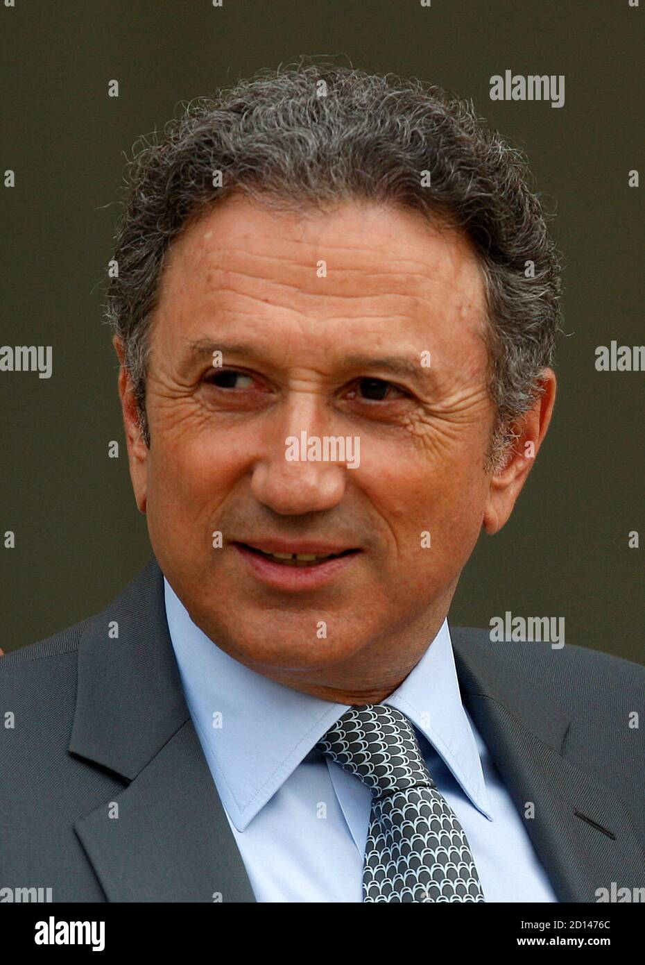 French Television Anchorman Michel Drucker Leaves The Elysee Palace In Paris May 22 2008 Reuters Charles Platiau France Stock Photo Alamy