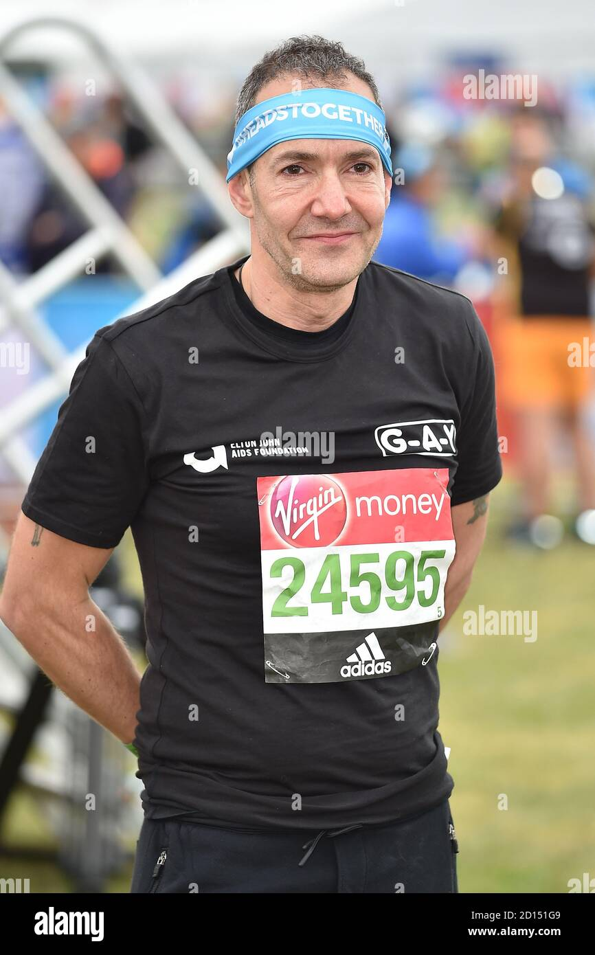 """London, UK. 23rd Apr, 2017. Jeremy Joseph seen during The London Marathon.G-A-Y owner Jeremy Joseph launches legal challenge against the Government's 10pm curfew, he said, """"The 10pm curfew which has now been in place for the last two weeks and has been detrimental to the hospitality sector, including G-A-Y, makes absolutely no sense. The club owner claims the measures make a """"scapegoat"""" of the night time economy and are """"unsafe"""" for punters and thus has instructed his legal teams at Simpson Miller Solicitors and Kings Chambers to challenge them. Credit: SOPA Images Limited/Alamy Live News Stock Photo"""