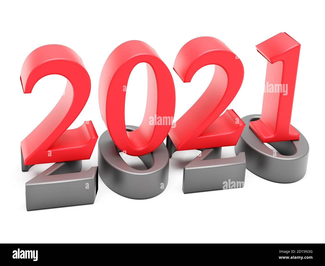 new year 2021 holiday concept the color number 2021 lies at 2020 3d rendering stock photo alamy alamy
