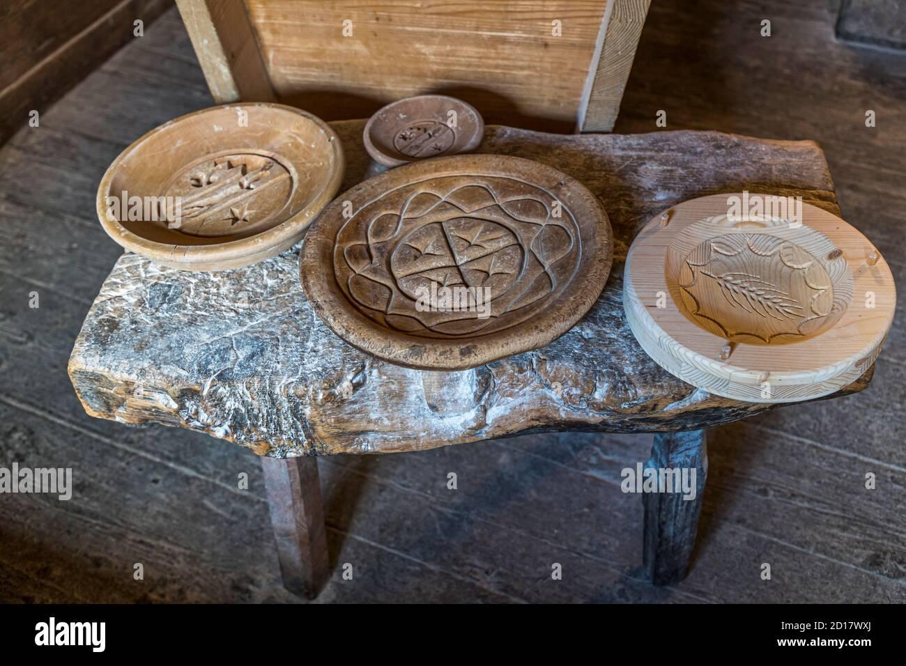 Bread-Baking workshop in Goppenstein-Erschmatt, Switzerland Stock Photo