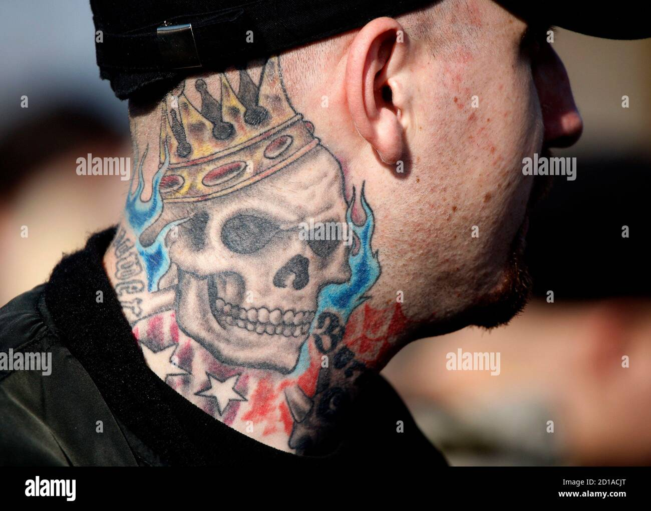 Skinhead designs crucified tattoo Hate Symbols