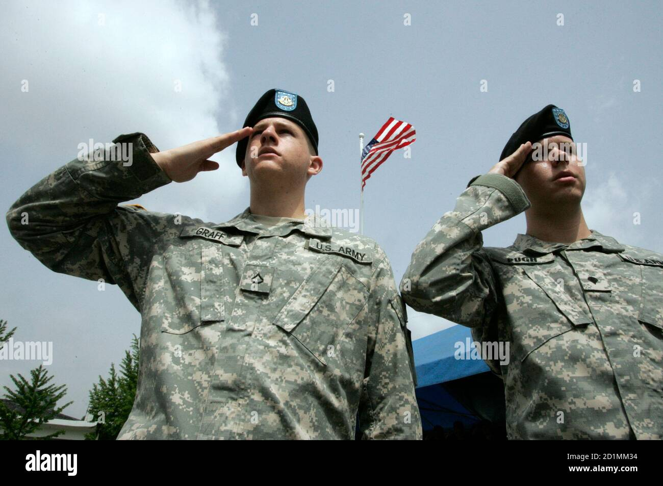 Salute The Troops with the Stars and Stripes