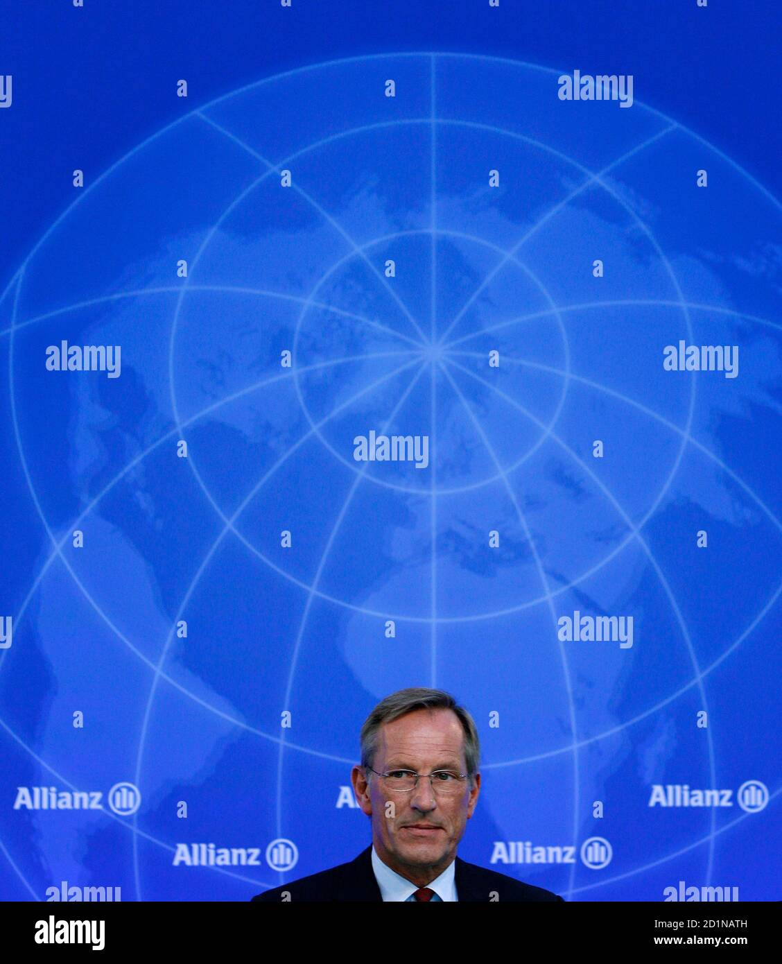 Michael Diekmann, CEO of Europe's biggest insurer Allianz, arrives for the company's annual news conference in Munich February 25, 2010. Allianz on Thursday forecast a stagnating year ahead, mired in low economic growth and high unemployment.   REUTERS/Michaela Rehle (GERMANY - Tags: BUSINESS) Stock Photo