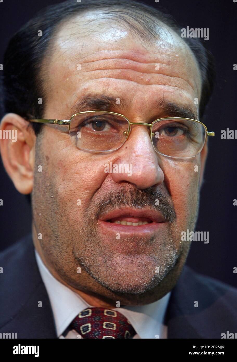 https www alamy com iraqi prime minister nuri al maliki speaks with a reuters correspondent during an interview in baghdad may 30 2006 image379981790 html