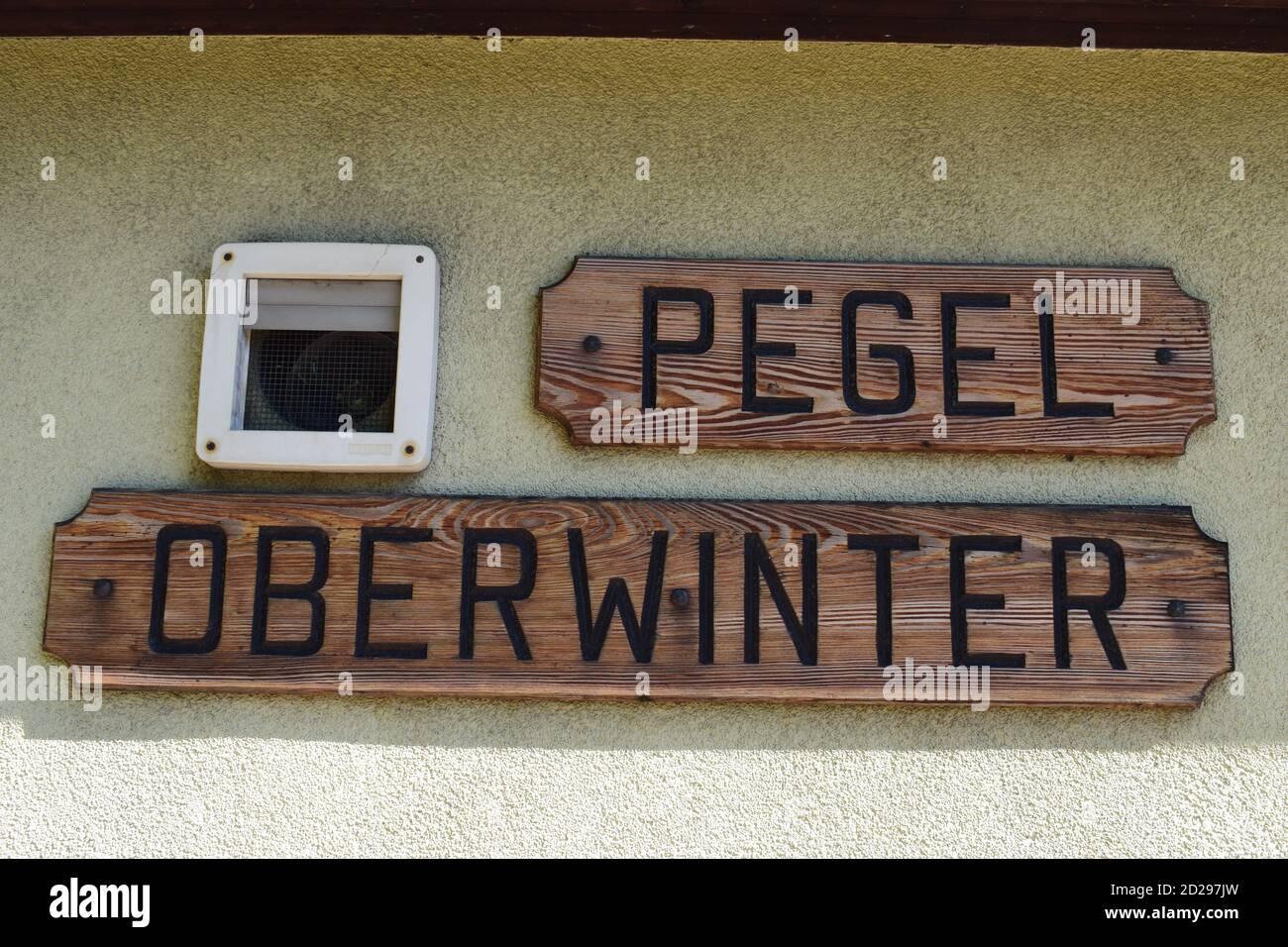Pegel Oberwinter Stock Photo