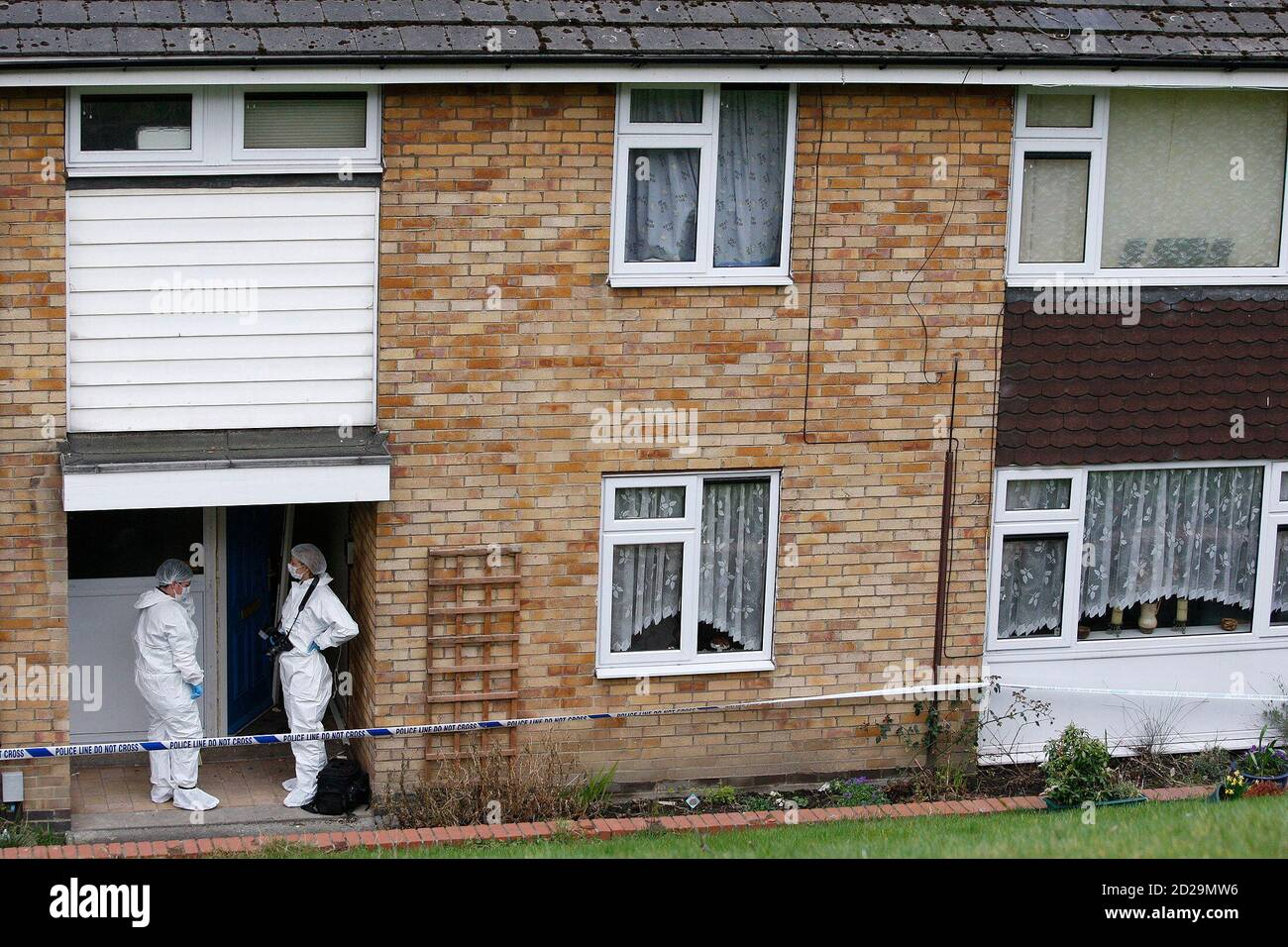 Scenes Of Crime Officers Examine The House Where Shannon Matthews Was Found Alive In Batley Carr West Yorkshire Northern England March 14 2008 Missing Schoolgirl Matthews Was Found Alive On Friday Hidden