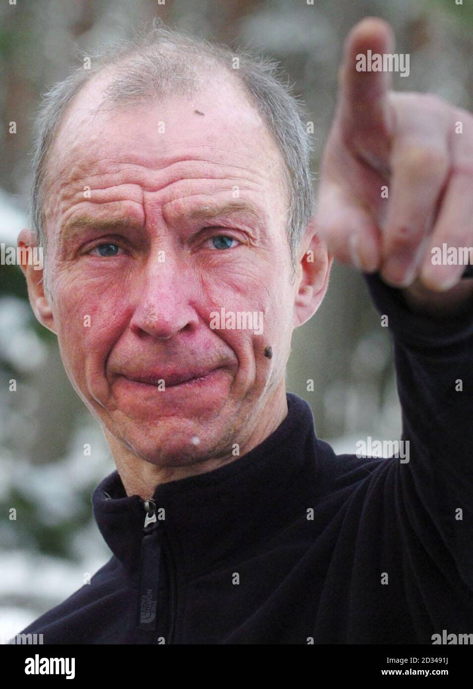 David Amos, 57, from Edinburgh in the Cairngorms in the Scottish Highlands. Amos and a second climber, Marek Horecek, 30, a professional climber from Prague, were missing in the Highlands in atrocious weather conditions for two days but have been found safe and well, it emerged today. A major search was launched after the men, who were taking part in an international expedition in the Cairngorms, failed to return to Glenmore Lodge, near Aviemore, on Tuesday evening. The men were found this morning by an RAF helicopter from Lossiemouth. Stock Photo