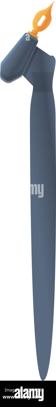 Flexible nib icon. Cartoon of flexible nib vector icon for web design isolated on white background Stock Vector