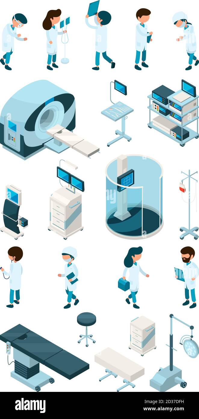 Medical Staff Equipment For Hospital And Medical Personal Doctor Nurse Pediatric Surgeon Paramedic At Work Vector Bundle Stock Vector Image Art Alamy