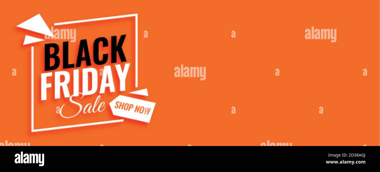 Black Friday Sale Shop Now Banner With Text Space Stock Vector Image Art Alamy