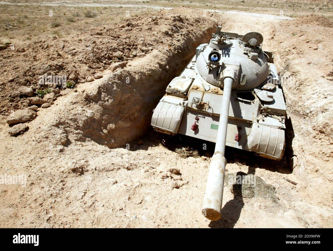 An Iraqi T 55 Tank Lies Intact At An Abandoned Iraqi Base Discovered By Members Of