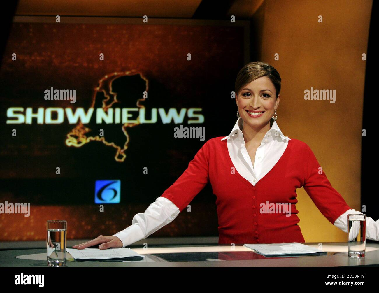 Rebecca Loos The Former Personal Assistant Of England And Real Madrid Soccer Player David Beckham Poses Before Her Tv Show Called Shownews In Amsterdam May 13 2004 Loos Who Claims She Slept