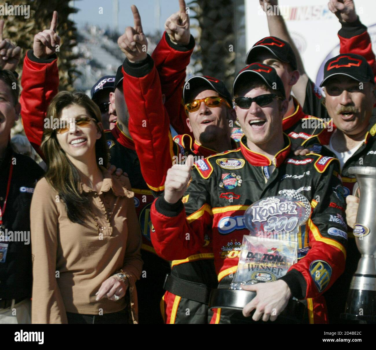 Teresa Earnhardt High Resolution Stock Photography And Images Alamy Kerry earnhardt and wife rene use their name on homes they helped design and promote with schumacher homes. https www alamy com dale earnhardt jr celebrates in victory lane with his stepmother and car owner teresa earnhardt after he won the koolerz 300 nascar busch series race at the daytona international speedway in daytona beach florida february 15 2003 the race was part of speedweeks events leading up to running of the 45th daytona 500 on february 16 reutersmarc serota jls image381339236 html