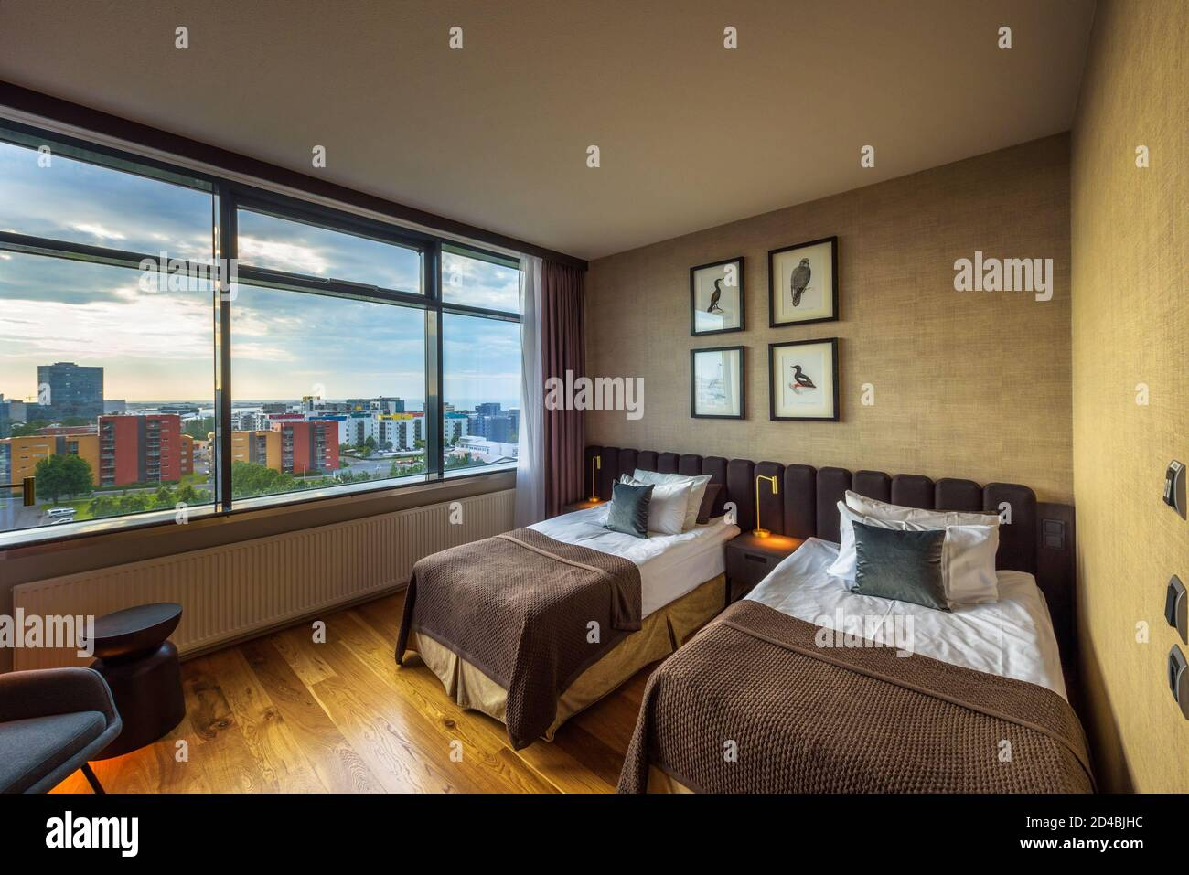 Interior Of A Room With City View In Grand Hotel Reykjavik Iceland Stock Photo Alamy