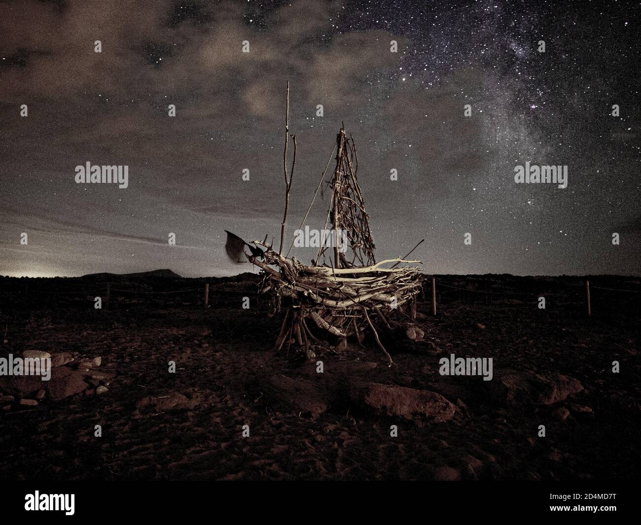 Night Sky Stars Boat High Resolution Stock Photography And Images Alamy