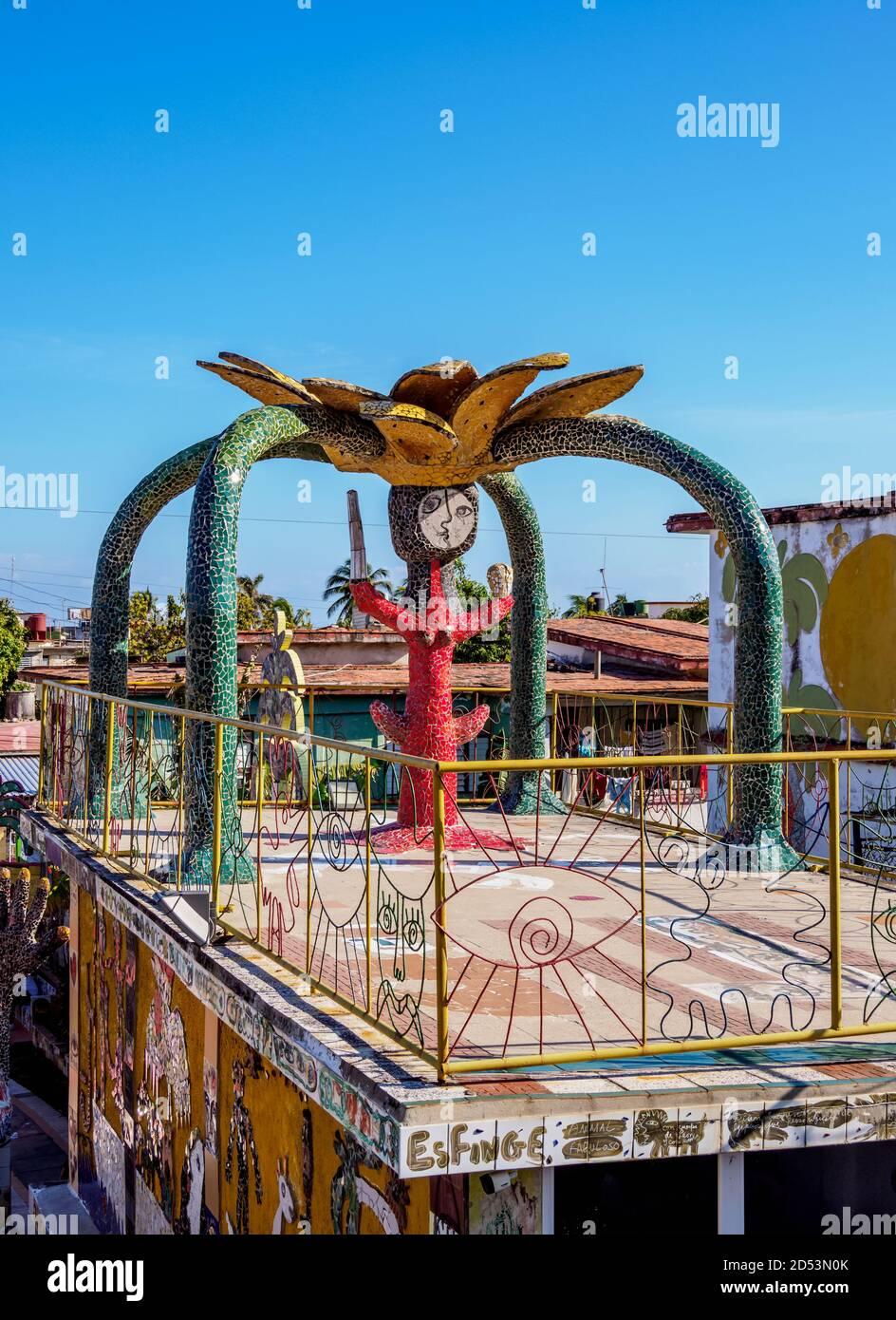 House of Fuster, Fusterlandia, Jaimanitas Neighbourhood, Playa District, Havana, La Habana Province, Cuba Stock Photo