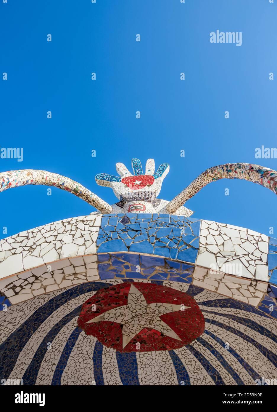 House of Fuster, detailed view, Fusterlandia, Jaimanitas Neighbourhood, Playa District, Havana, La Habana Province, Cuba Stock Photo