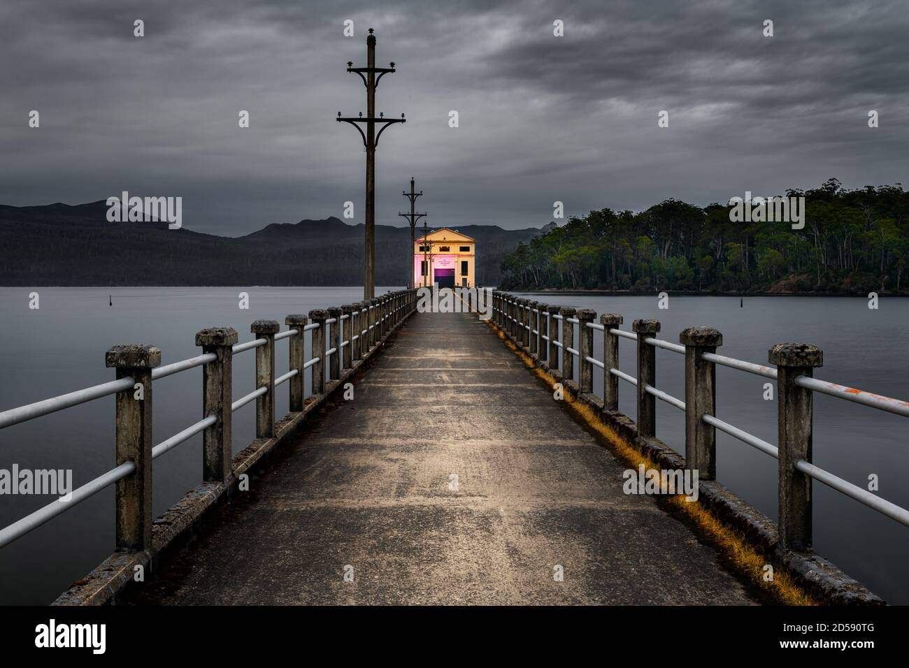Historical Pumphouse Point at Lake St Clair. Stock Photo