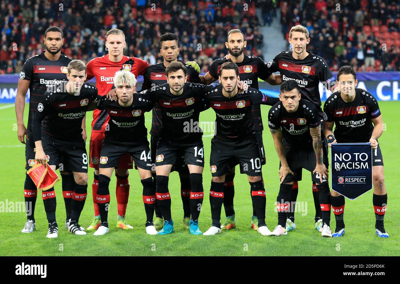 Bayer Leverkusen Team High Resolution Stock Photography and Images ...