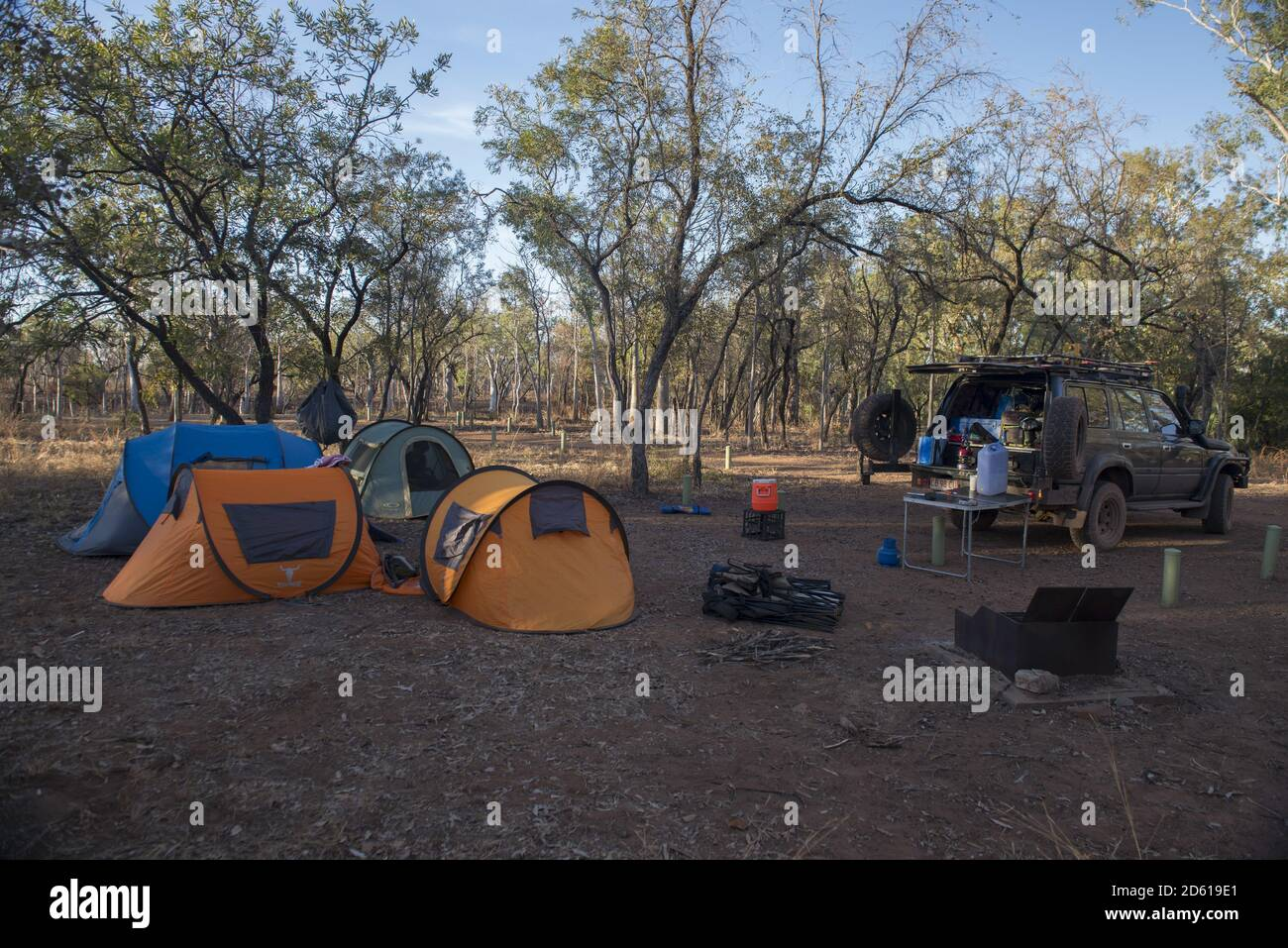 Darwin Australia Jul 16 2020 A Suv Or Four By Four Tented Campsite In The Remote Outback Of Australia Stock Photo Alamy
