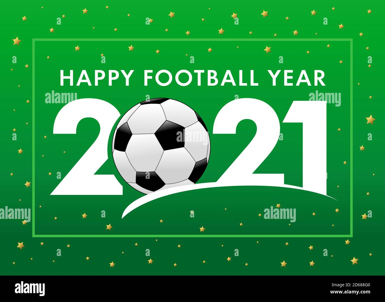 Football, Christmas Day, 2021 Happy Football Year 2021 With Text And Soccer Ball On Green Background Merry Christmas Vector Illustration With 2 Ball 21 Numbers Invitation Card Stock Vector Image Art Alamy