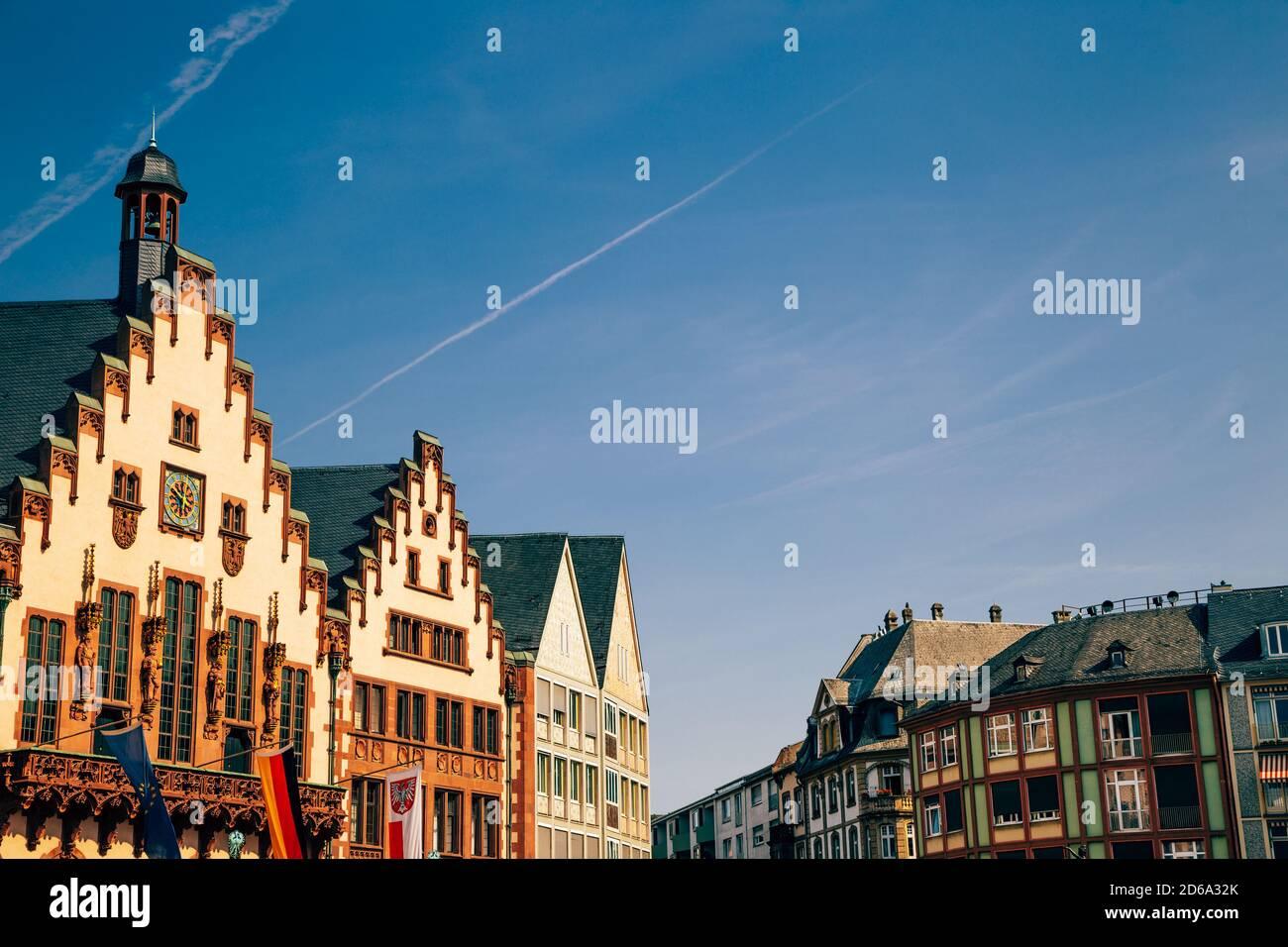 Romerberg old town square in Frankfurt, Germany Stock Photo