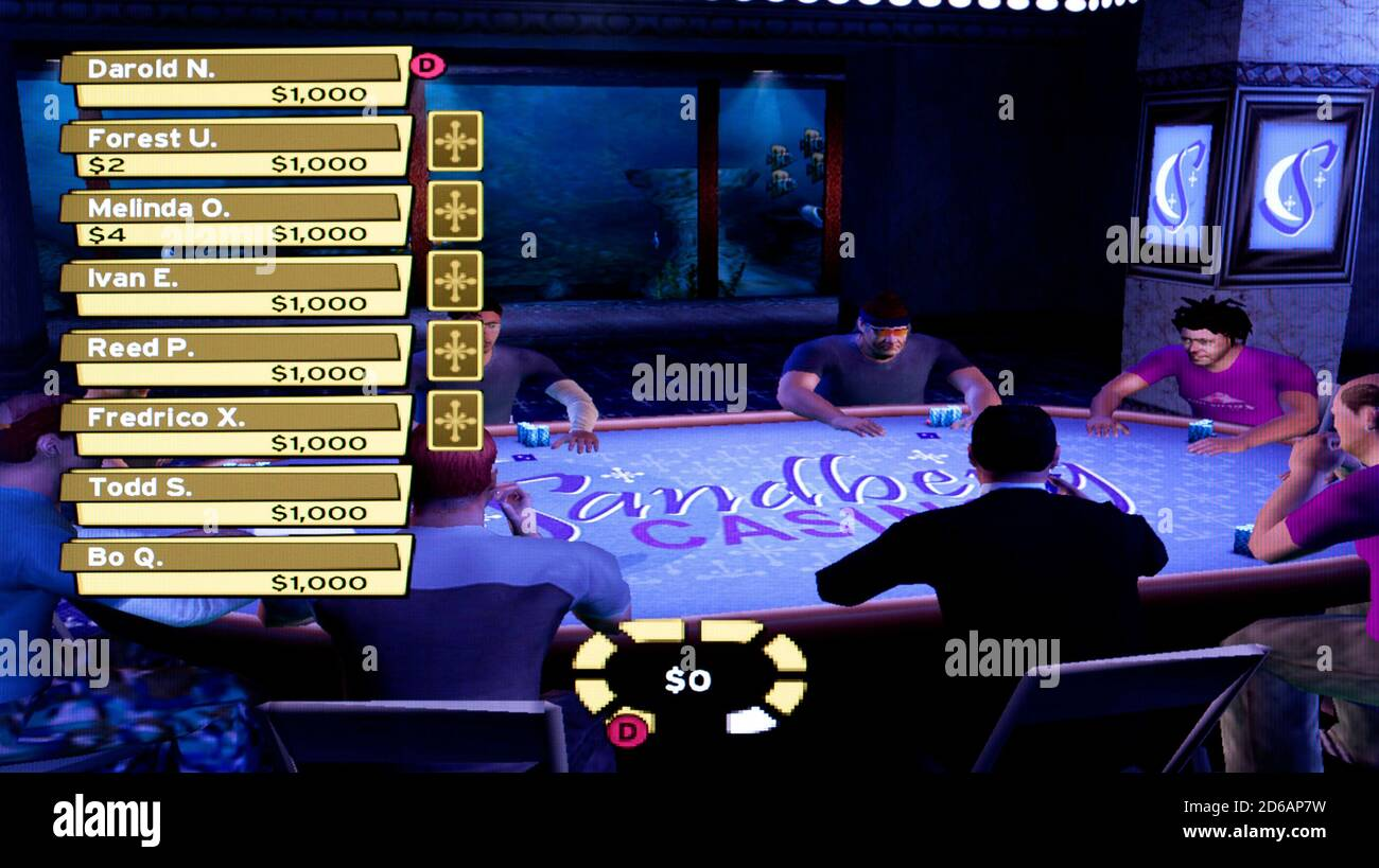 World Championship Poker Featuring Howard Lederer Sony Playstation 2 Ps2 Editorial Use Only Stock Photo Alamy