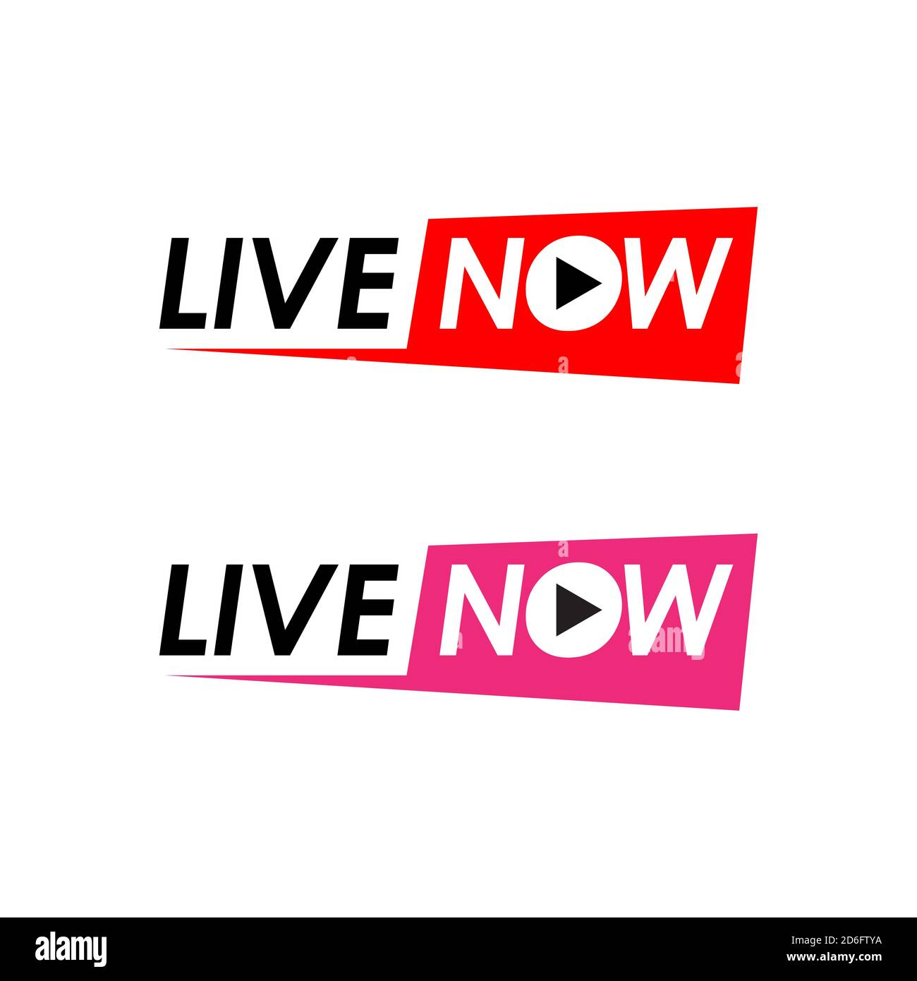 live now logo icon for TV News Entertaining show online sign banner vector  illustration Stock Vector Image & Art - Alamy