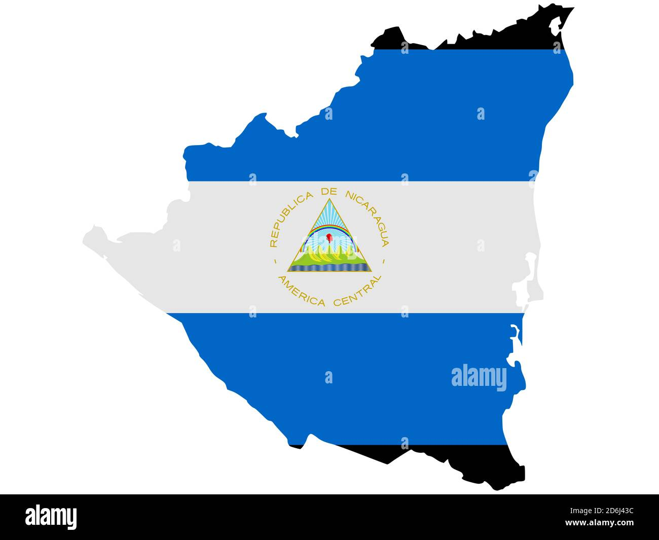 Outline Map Flag Nicaragua High Resolution Stock Photography And Images Alamy