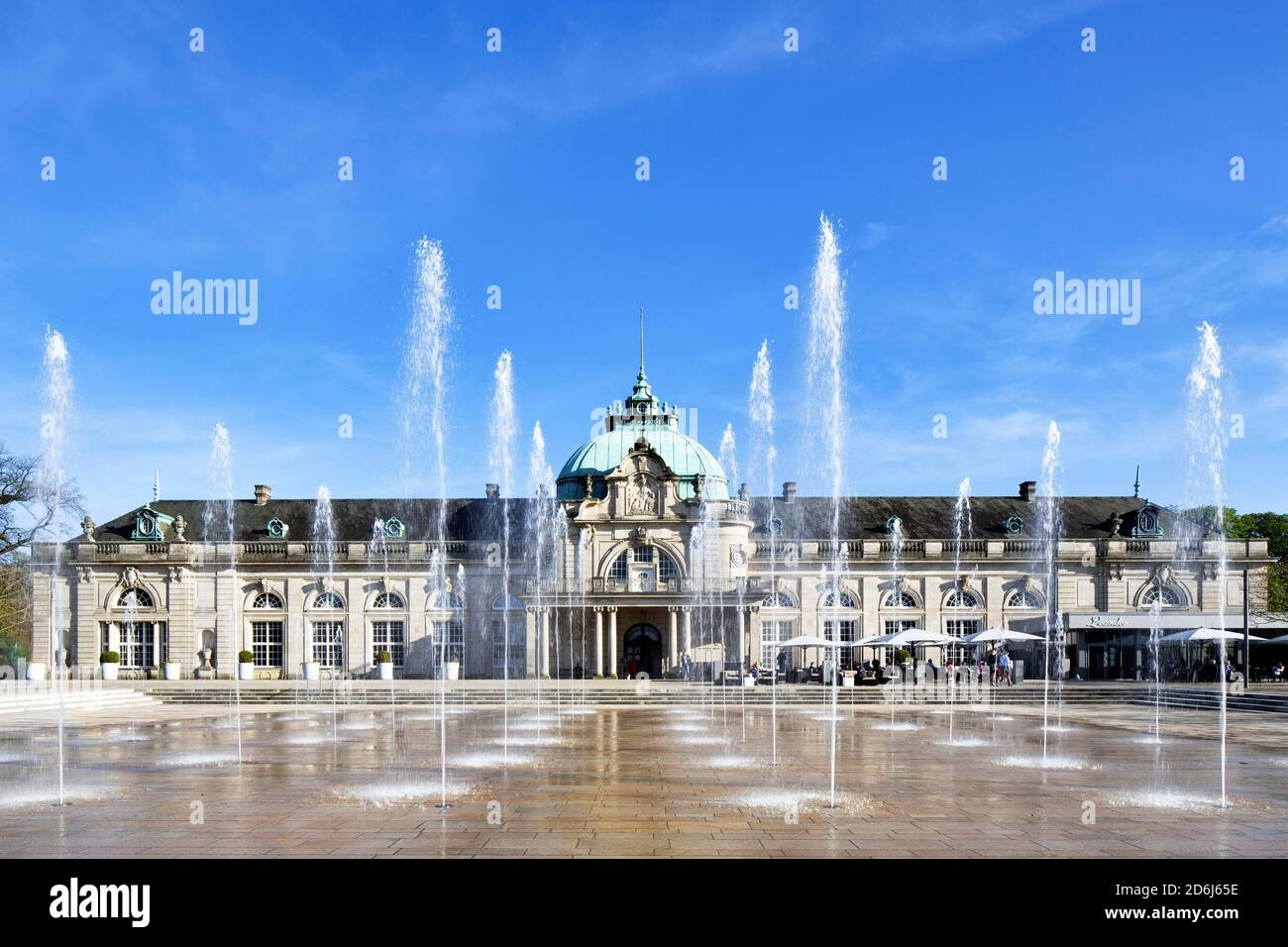 Kaiserpalais, built in 1908 as New spa hotel with reading room, lounges, restaurant, billiard room, concert hall, spa gardens, Bad Oeynhausen, East Stock Photo