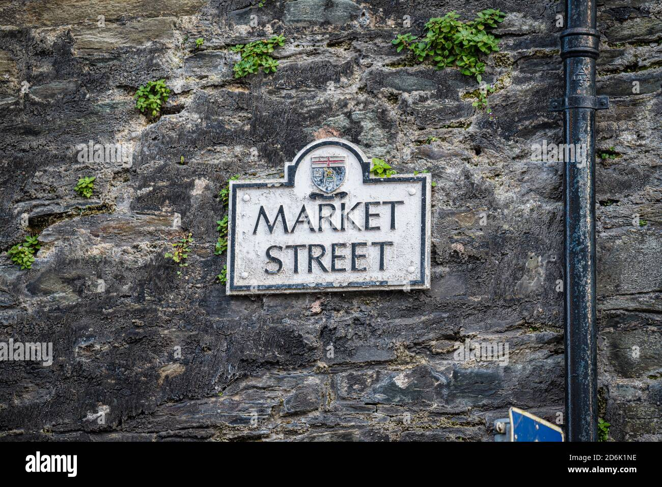 Derry, Northern Ireland- Sept 27, 2020: The sign for Market Street in Derry. Stock Photo