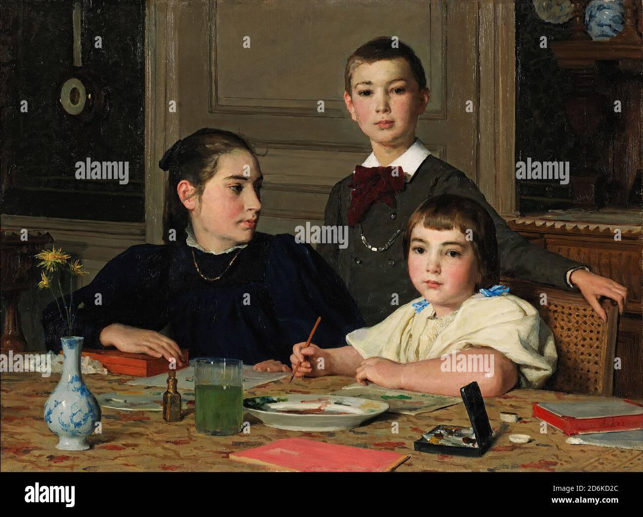 Chiusi Albert Anker 1887 svizzeri pittore Toscana romana città LW H a2 0622