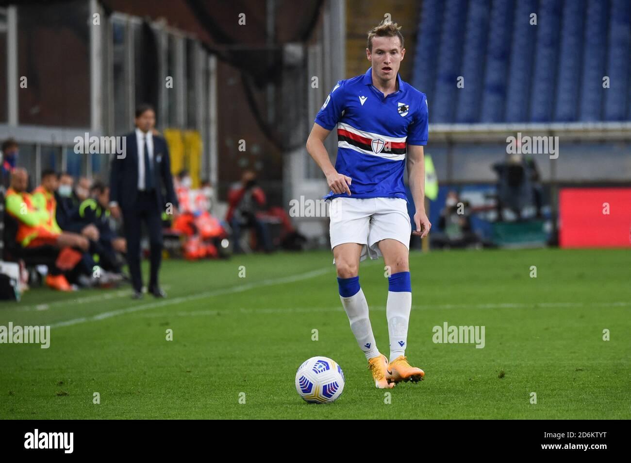 AKUB JANKTO (Sampdoria) during Sampdoria vs SS Lazio , italian soccer Serie A match, Genova, Italy, 17 Oct 2020 Credit: LM/Danilo Vigo Stock Photo