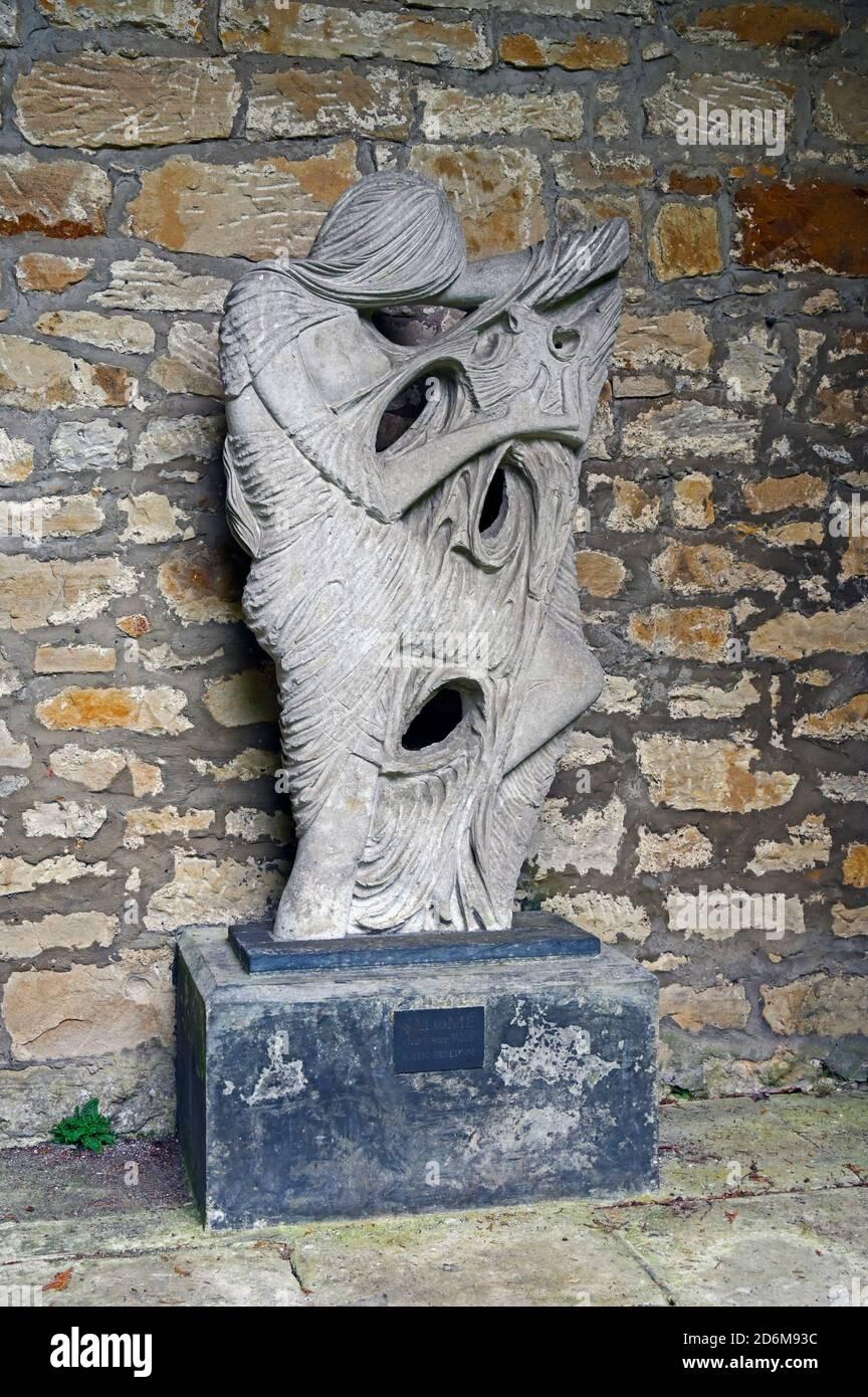 "Sculpture ""Salome"" after Oscar Wilde, 1963  by John Skelton. Hopetoun House, South Queensferry, Scotland, United Kingdom, Europe. Stock Photo"