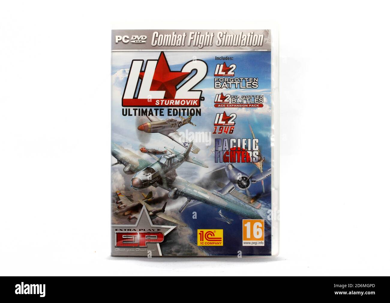Where:   When:   Who:   What:   Why:  Description:   IL2 Forgotten Battles, IL2 Forgeotten Battles Ace Expansion pack, Pacific Fighters, four excellen Stock Photo