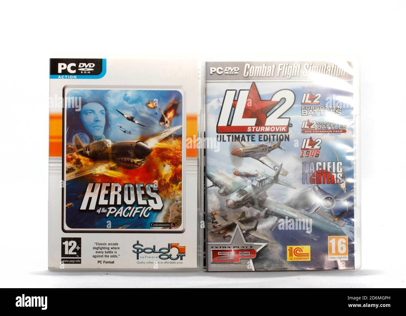 Where:   When:   Who:   What:   Why:  Description:  Heroes of the Pacific and IL2 Forgotten Battles, IL2 Forgeotten Battles Ace Expansion pack, Pacifi Stock Photo