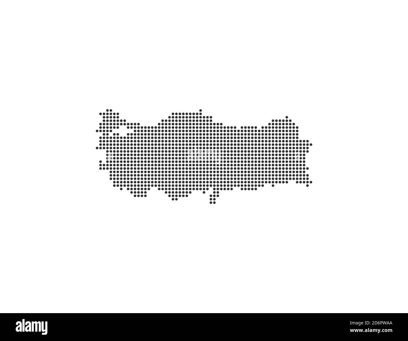 Turkey, country, dotted map on white background. Vector illustration. Stock Vector