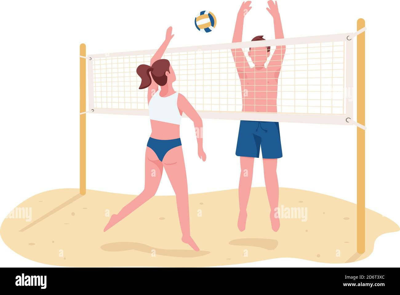 Volleyball By Exelionstar - Girl Volleyball Player Cartoon , Free  Transparent Clipart - ClipartKey