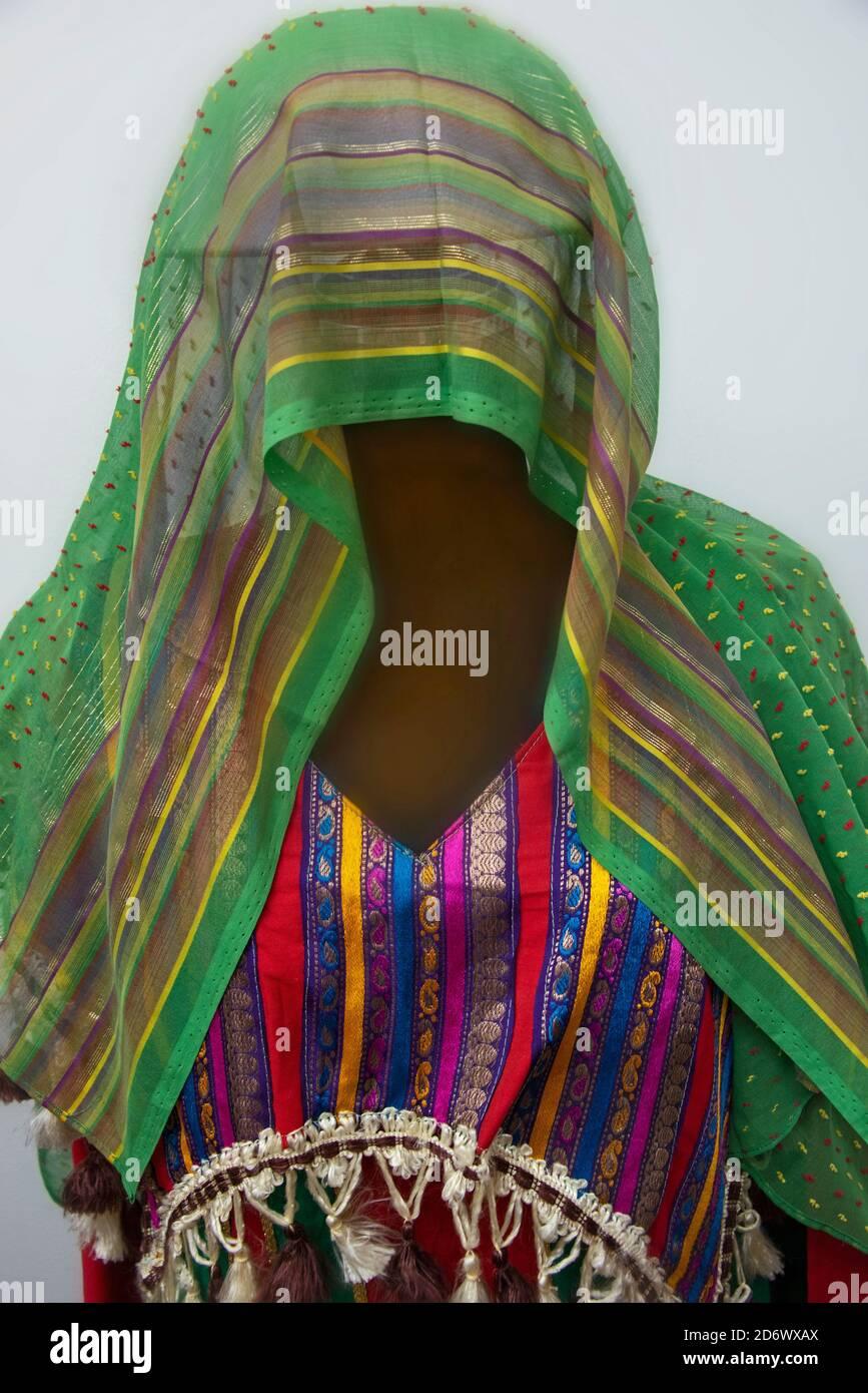 Bedouin clothing on mannequin in Saudi Arabia Stock Photo