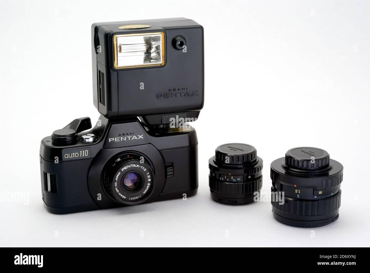 Pentax Auto 110 camera Stock Photo