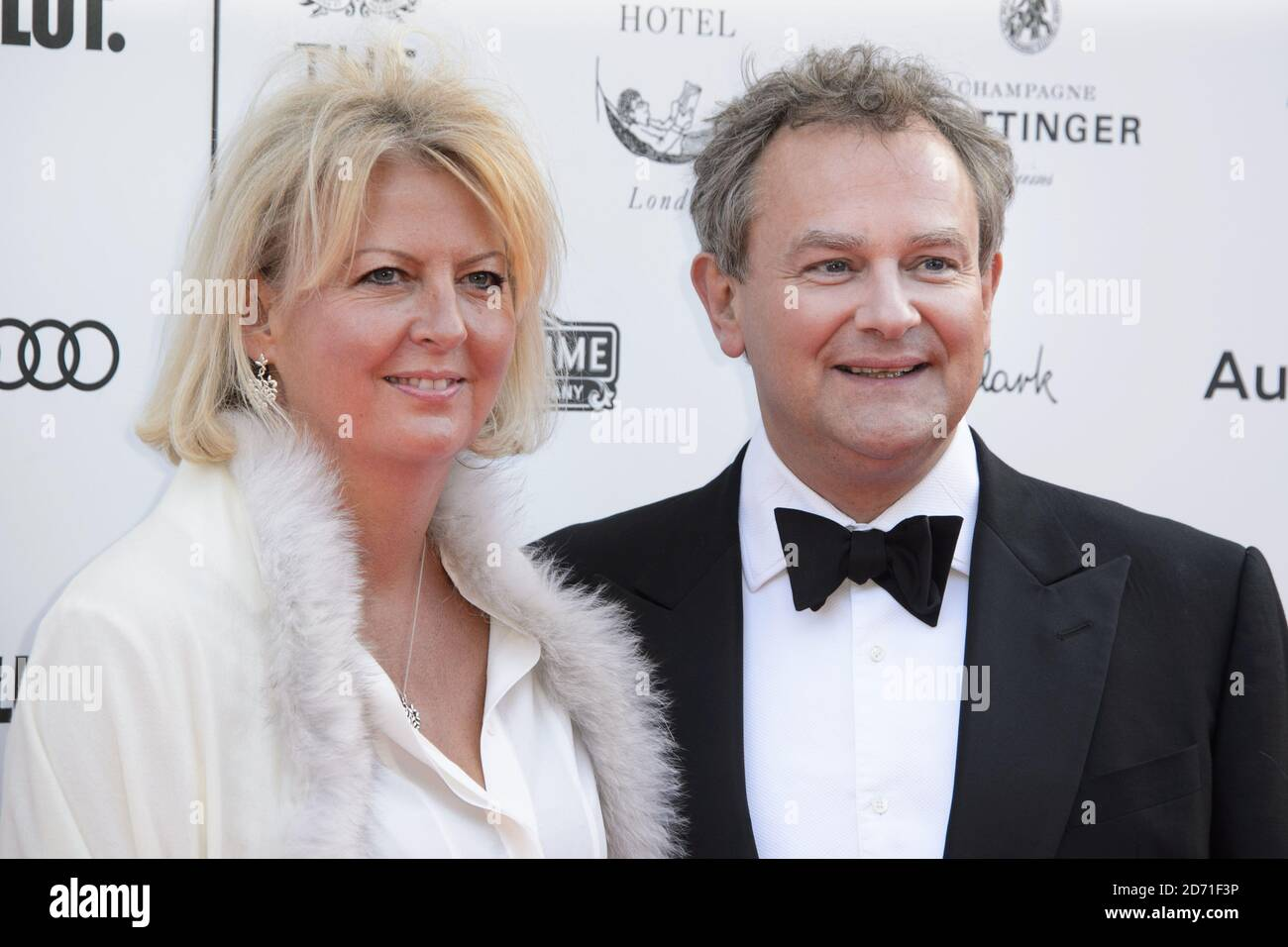 Hugh Bonneville and Lulu Williams attending a Gala Celebration in honour of Kevin Spacey at the Old Vic in central London to recognise his 11 years as Artistic Director at the theatre. Stock Photo