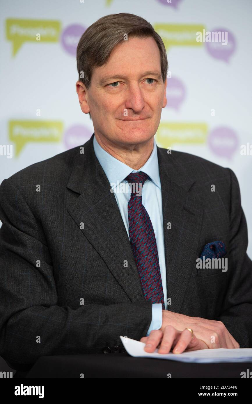 Dominic Grieve MP speaking at a People's Vote Press Conference, in Westminster, London. Picture date: Wednesday March 27, 2019. Photo credit should read: Matt Crossick/Empics Stock Photo