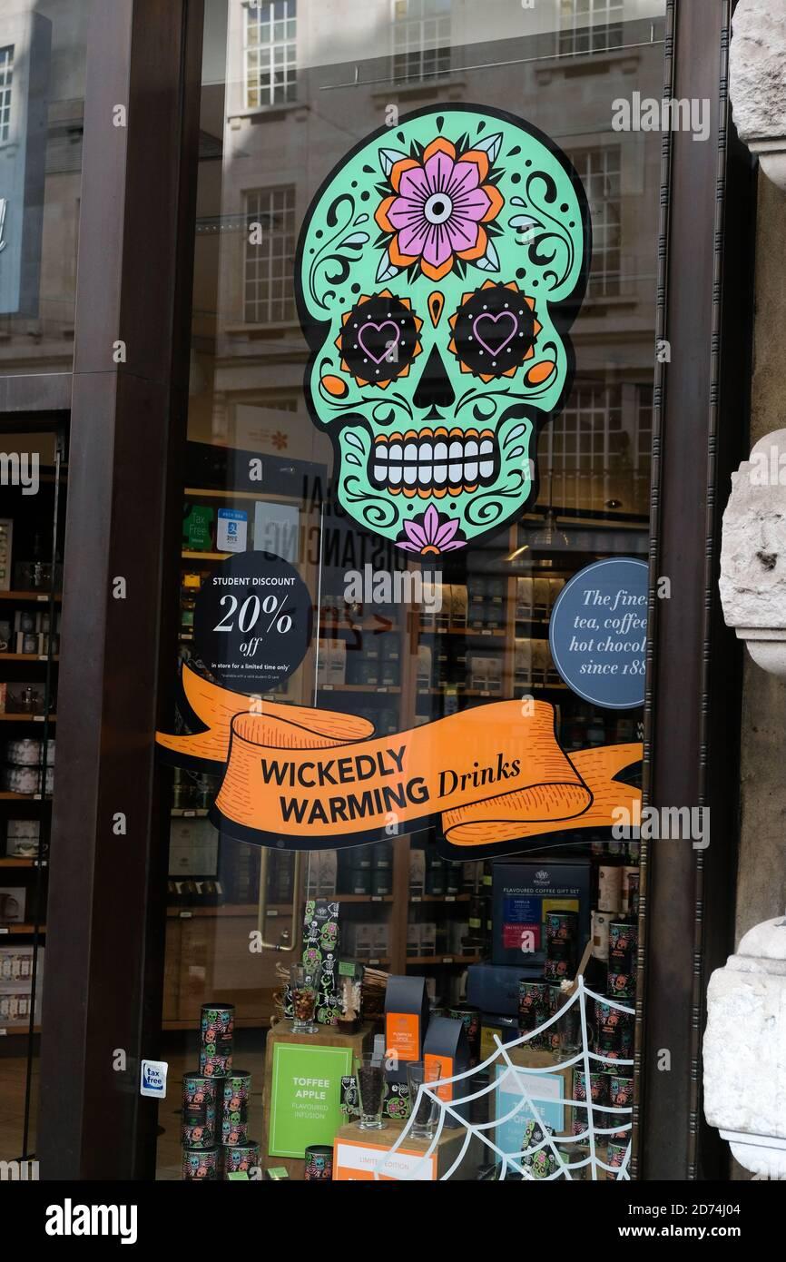 Regent Street, London, UK. 20th Oct 2020. Halloween themed shop windows. Credit: Matthew Chattle/Alamy Live News Stock Photo