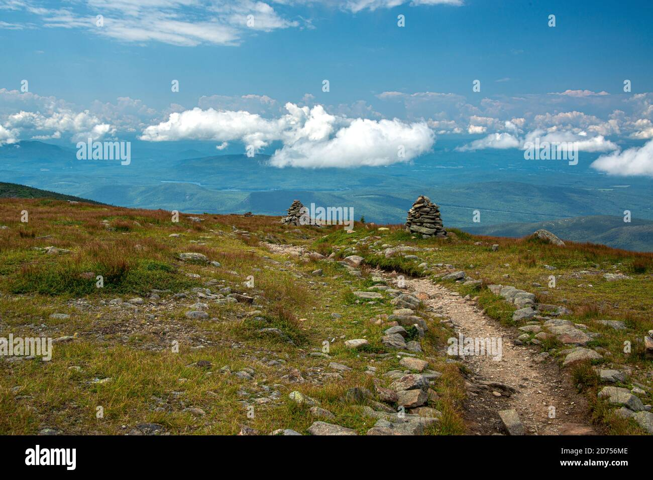 Clouds Over The White Mountains In New Hampshire Stock Photo
