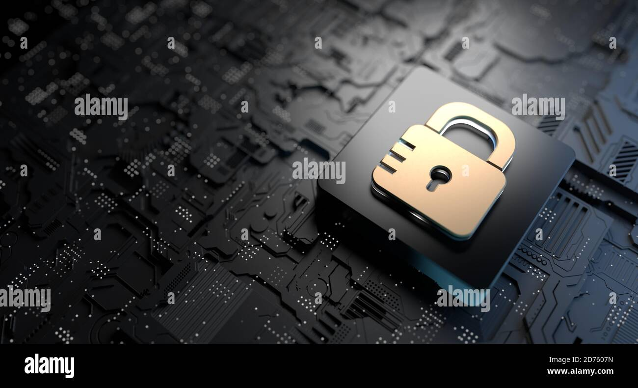 Cyber Security Technology, Protecting Digital Online Information. Online Data Security Stock Photo