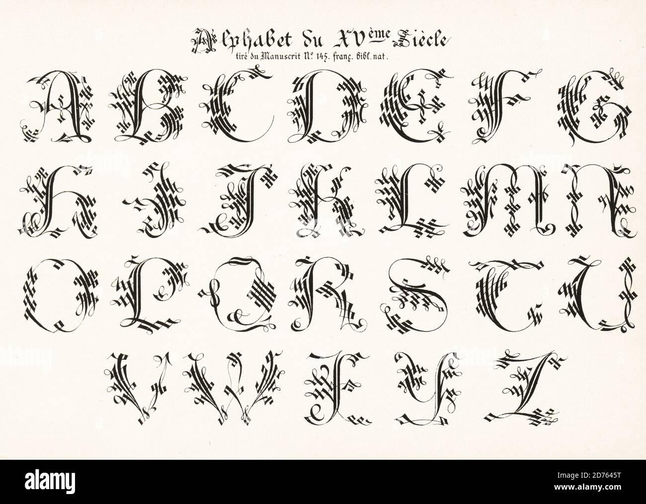 Medieval manuscript font