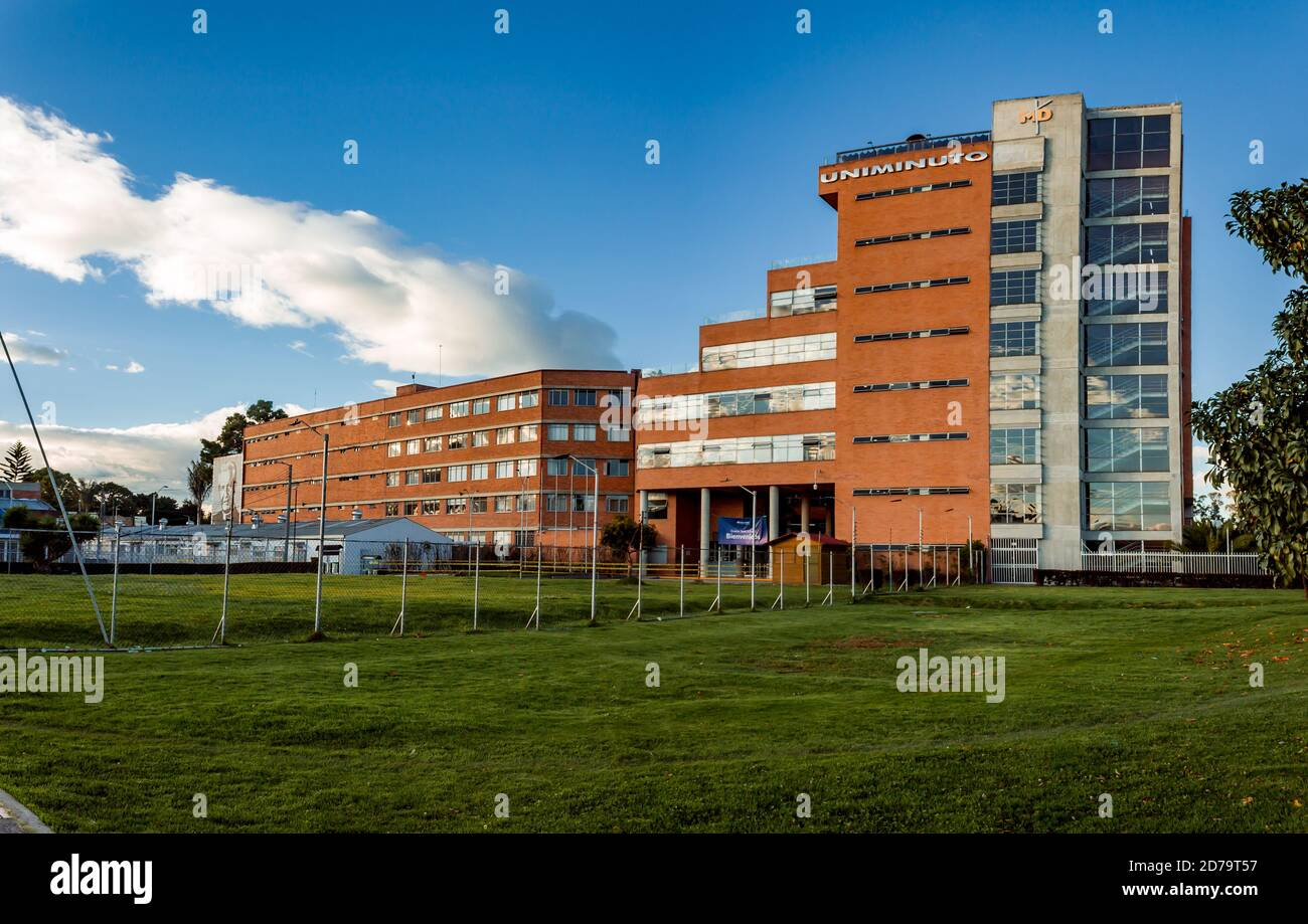 Main headquarters of the Minuto de Dios University, northwest of Bogotá, Colombia October 2020 Stock Photo