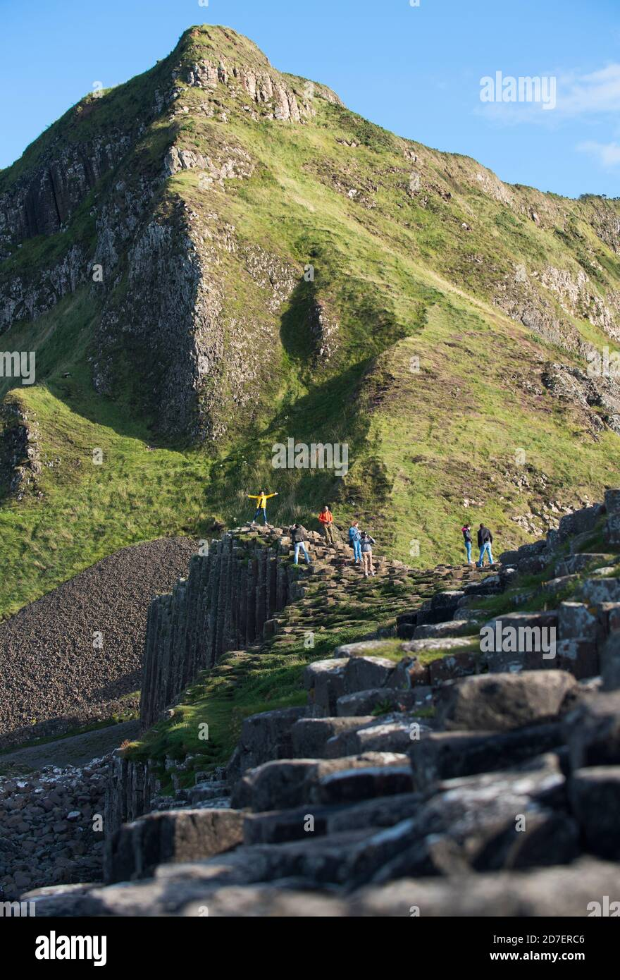 Giant's Causeway, a UNESCO world heritage site consisting of some 40,000 basalt columns located on the Antrim coast of Northern Ireland, U.K. Stock Photo