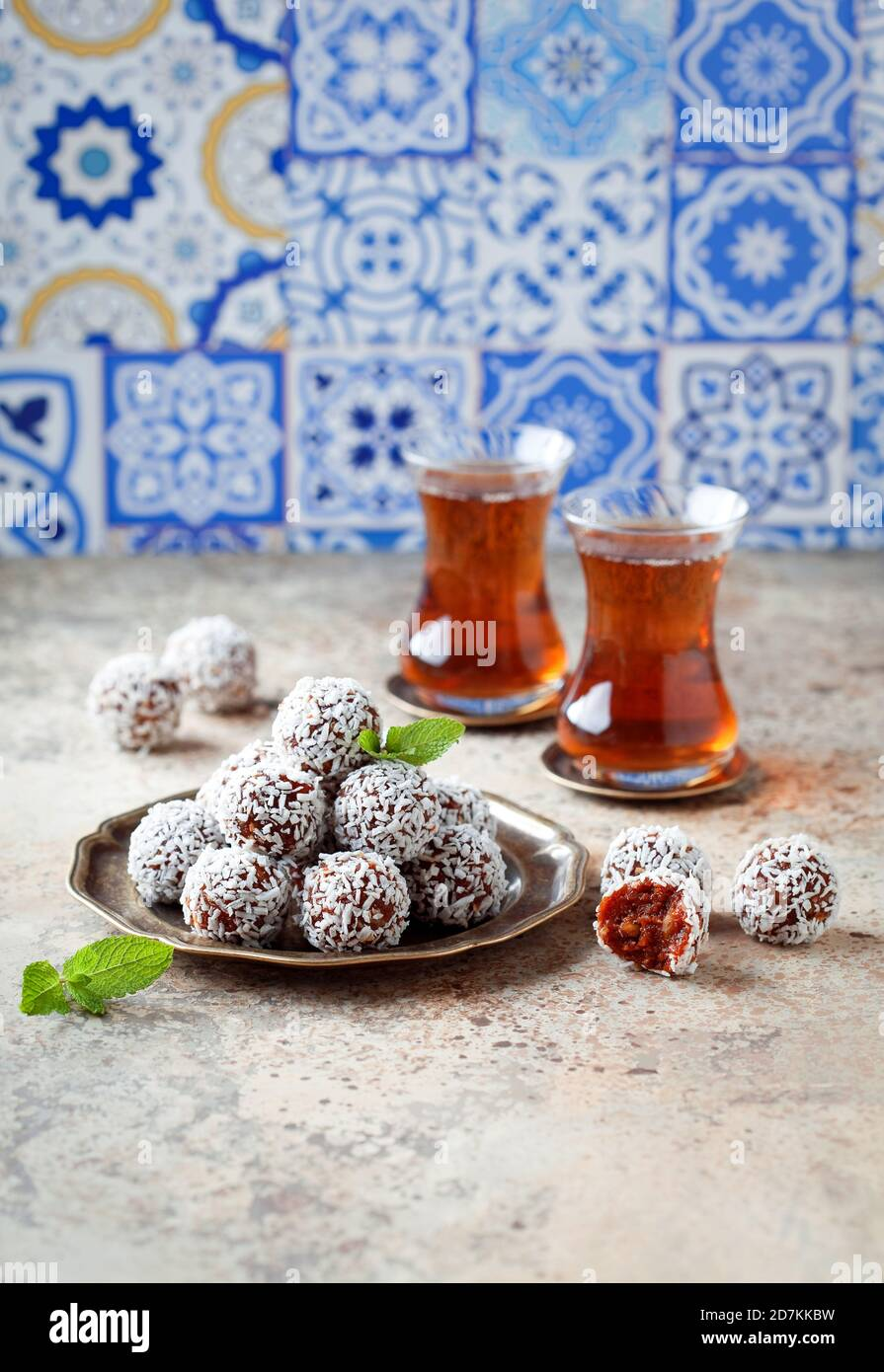 Traditional Turkish Carrot Delight (Cezerye), selective focus Stock Photo
