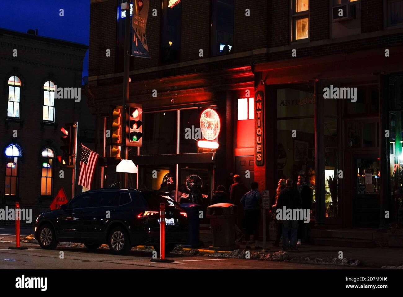 People Are Seen Socializing Outside Agave Kitchen As The Coronavirus Disease Covid 19 Outbreak Continues In Hudson Wisconsin U S October 23 2020 Reuters Bing Guan Stock Photo Alamy